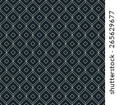 black and white isometric grid... | Shutterstock .eps vector #265629677