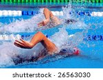 swimming  freestyle in... | Shutterstock . vector #26563030