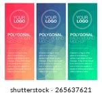 vertical polygonal banners | Shutterstock .eps vector #265637621