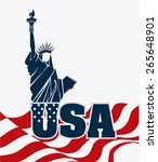 usa design over white... | Shutterstock .eps vector #265648901