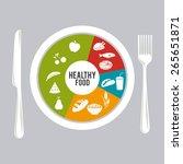 fitness design over gray... | Shutterstock .eps vector #265651871