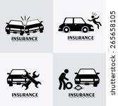 insurance design over white... | Shutterstock .eps vector #265658105