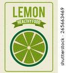 fresh fruit design  vector...   Shutterstock .eps vector #265663469
