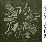 arrows on blackboard. vector   Shutterstock .eps vector #265663901
