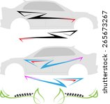 vehicle graphics  stripe  ... | Shutterstock .eps vector #265673267