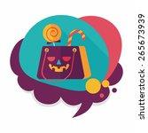 halloween shopping bag flat... | Shutterstock .eps vector #265673939