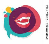 halloween fangs flat icon with... | Shutterstock .eps vector #265674461