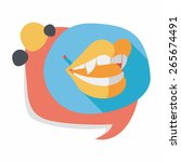 halloween fangs flat icon with...   Shutterstock .eps vector #265674491