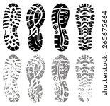 vector set of shoe tracks   Shutterstock .eps vector #265675664