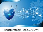 health care abstract design and ... | Shutterstock .eps vector #265678994