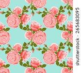 classic wallpaper seamless... | Shutterstock . vector #265683095