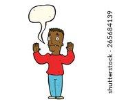 cartoon man surrendering with... | Shutterstock .eps vector #265684139