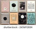 Set Of Vintage Creative Cards...