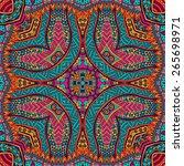 festive colorful tribal ethnic... | Shutterstock .eps vector #265698971
