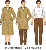 the suit for the woman consists ... | Shutterstock .eps vector #265701965