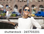 portrait of young businesswoman ... | Shutterstock . vector #265703201