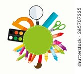 school supplies design  vector... | Shutterstock .eps vector #265707335