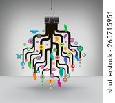 colorful tree hung by a binder...   Shutterstock .eps vector #265715951