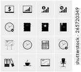 black and white vector set of...