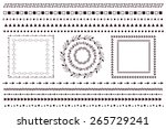 vector design elements  wreaths ... | Shutterstock .eps vector #265729241