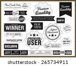 set of vintage stickers  tags... | Shutterstock .eps vector #265734911