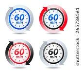 vector 60 minutes | Shutterstock .eps vector #265736561