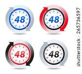 vector 48 hours | Shutterstock .eps vector #265736597