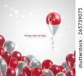 flag of singapore on balloon....   Shutterstock .eps vector #265739075