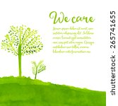 Green Eco Background With Hand...