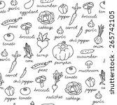 vector pattern of seamless... | Shutterstock .eps vector #265742105