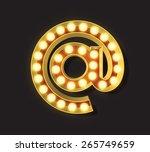 marquee light letter   vector   ... | Shutterstock .eps vector #265749659