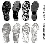 vector set of shoe tracks | Shutterstock .eps vector #265759811