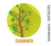 summer tree sign or label.... | Shutterstock .eps vector #265762391
