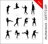 silhouette for boxing | Shutterstock .eps vector #265772189