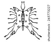 stylized butterfly  vector    Shutterstock .eps vector #265773227