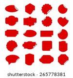 red and silver paper stickers... | Shutterstock .eps vector #265778381