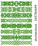 celtic borders with floral... | Shutterstock .eps vector #265784699