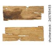 wooden planks isolated white...   Shutterstock . vector #265785455