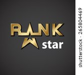 vector rank golden star... | Shutterstock .eps vector #265804469