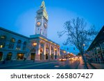 san francisco ferry building at ... | Shutterstock . vector #265807427