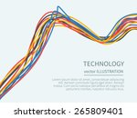 power cord from the...   Shutterstock .eps vector #265809401