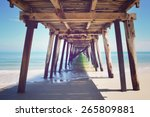underneath the pylons of a long ... | Shutterstock . vector #265809881