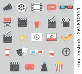 abstract cinema symbols on a...   Shutterstock .eps vector #265810151