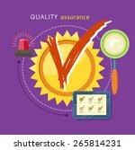 quality assured sign grunge... | Shutterstock .eps vector #265814231