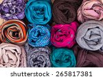 accessory   scarfs   different... | Shutterstock . vector #265817381