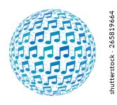 3d sphere with music note... | Shutterstock .eps vector #265819664