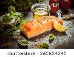Preparing A Gourmet Salmon Mea...
