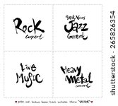 hand drawn music poster...   Shutterstock .eps vector #265826354