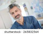 portrait of smiling mature... | Shutterstock . vector #265832564