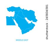 middle east map | Shutterstock .eps vector #265836581